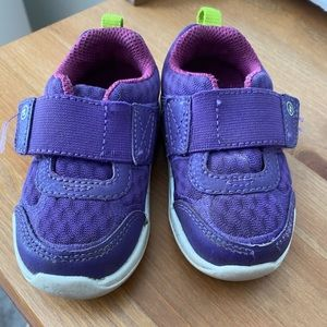 Purple Stride Rite Toddler Tennis Shoes